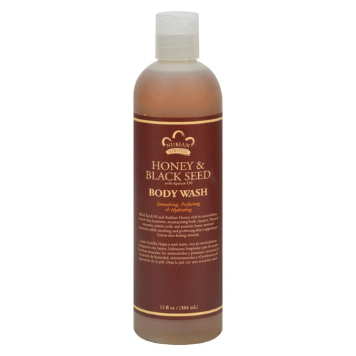 Nubian Heritage Body Wash Honey And Black Seed - 13 Fl Oz - J. Rose Global