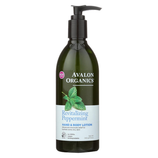 Avalon Organics Hand And Body Lotion Peppermint - 12 Fl Oz - J. Rose Global