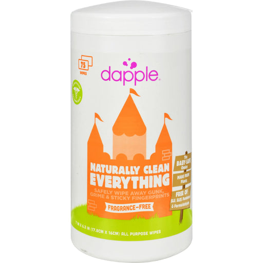 Dapple Surface Wipes For Highchairs, Toys And More Fragrance Free - 75 Wet Wipes - J. Rose Global