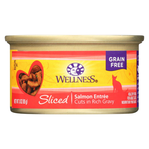 Wellness Pet Products Cat Food - Salmon Entr?e - Case Of 24 - 3 Oz. - J. Rose Global