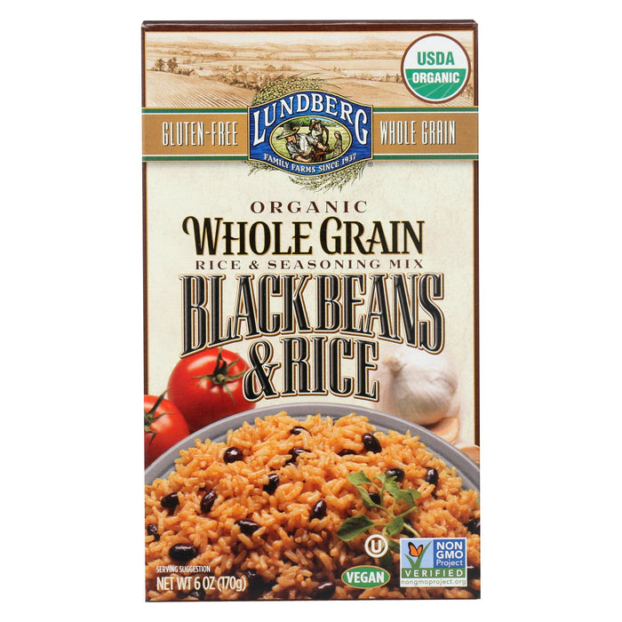 Lundberg Family Farms Organic Whole Grain - Black Beans And Rice - Case Of 6 - 6 Oz. - J. Rose Global