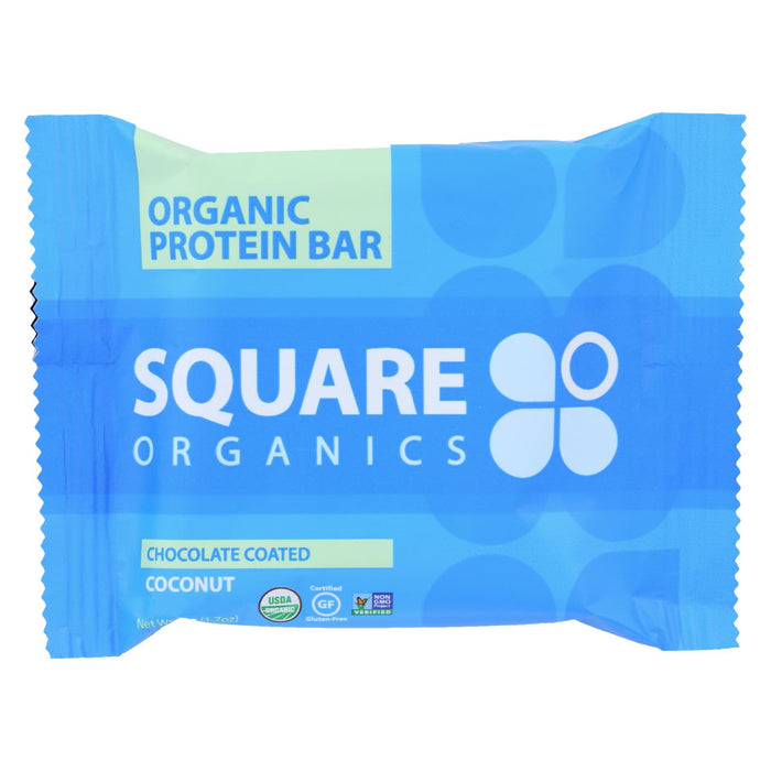 Squarebar Organic Protein Bar - Cocoa Coconut - 1.7 Oz - Case Of 12 - J. Rose Global
