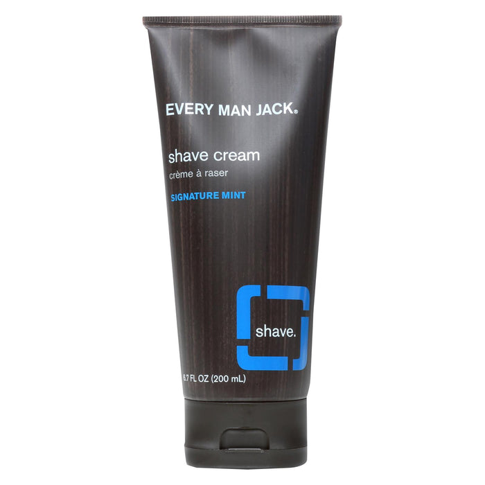 Every Man Jack Shaving Cream - Signature Mint - Case Of 1 - 6.7 Fl Oz. - J. Rose Global