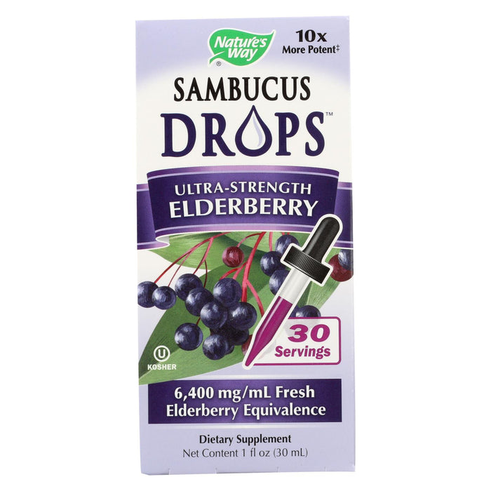 Nature's Way - Sambucus Drops - Ultra Strength - 1 Oz - J. Rose Global