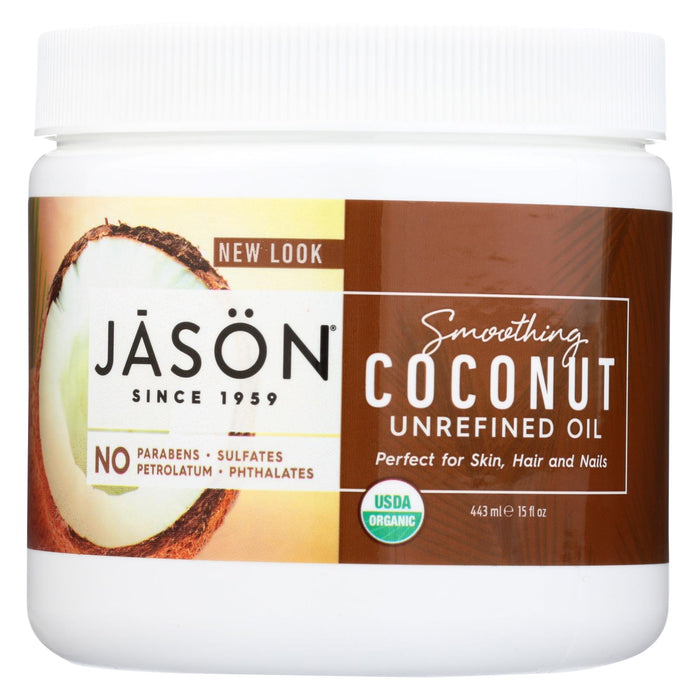 Jason Natural Products Coconut Oil - Organic - Virgin - 15 Fl Oz - J. Rose Global