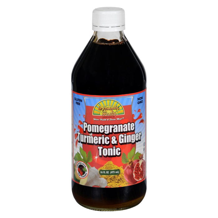 Dynamic Health Tonic - Pomegranate Turmeric And Ginger - 16 Oz - J. Rose Global