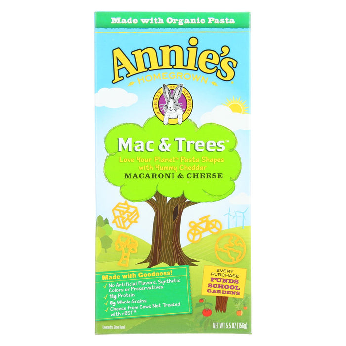 Annies Homegrown Macaroni And Cheese - Mac And Trees - 5.5 Oz - Case Of 12 - Handley Global Group, LLC