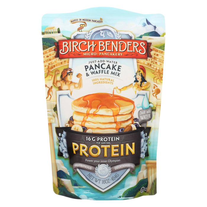 Birch Benders - Pancake And Waffle Mix - Protein - Case Of 6 - 16 Oz - Handley Global Group, LLC