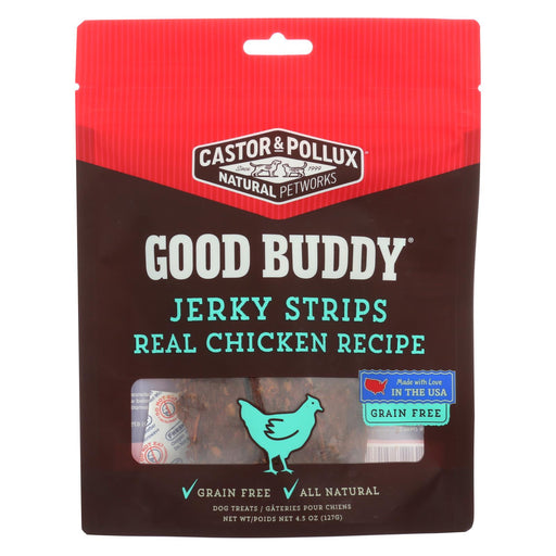Castor And Pollux Good Buddy Jerky Strips Dog Treats - Real Chicken Recipe - Case Of 6 - 4.5 Oz. - J. Rose Global