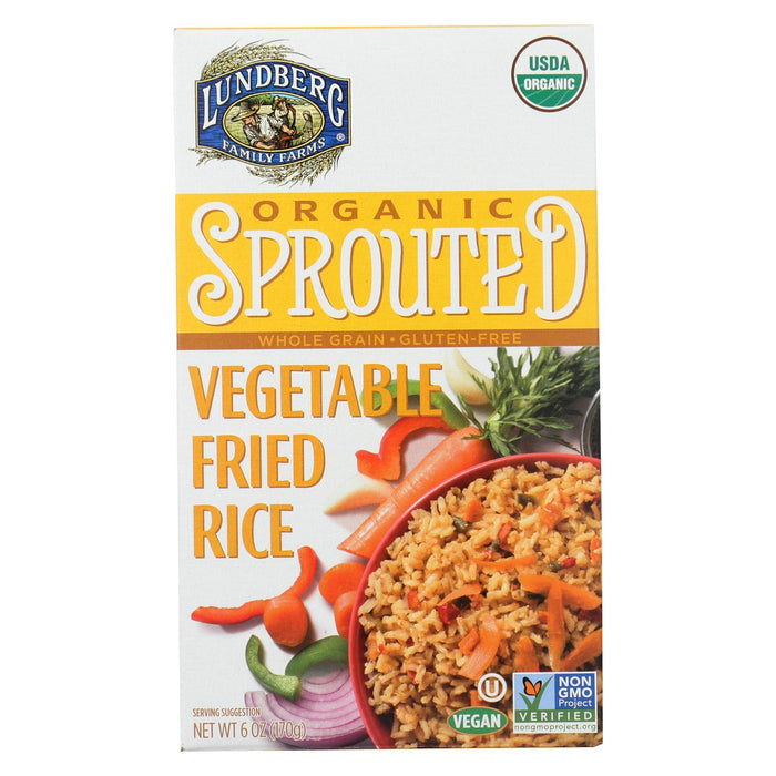 Lundberg Family Farms Organic Sprouted Rice - Vegetable Fried - Case Of 6 - 6 Oz - J. Rose Global