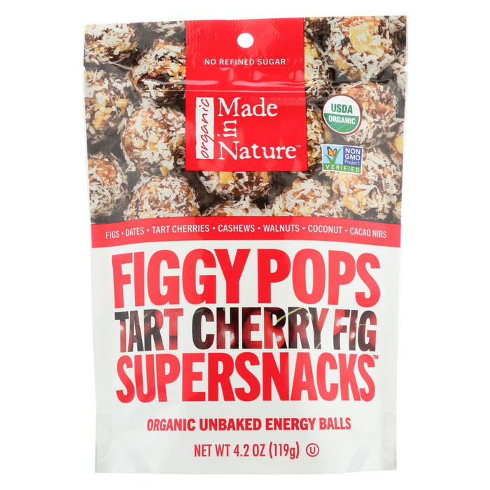Made In Nature Figgy Pops - Tart Cherry Fig - Case Of 6 - 4.2 Oz - J. Rose Global