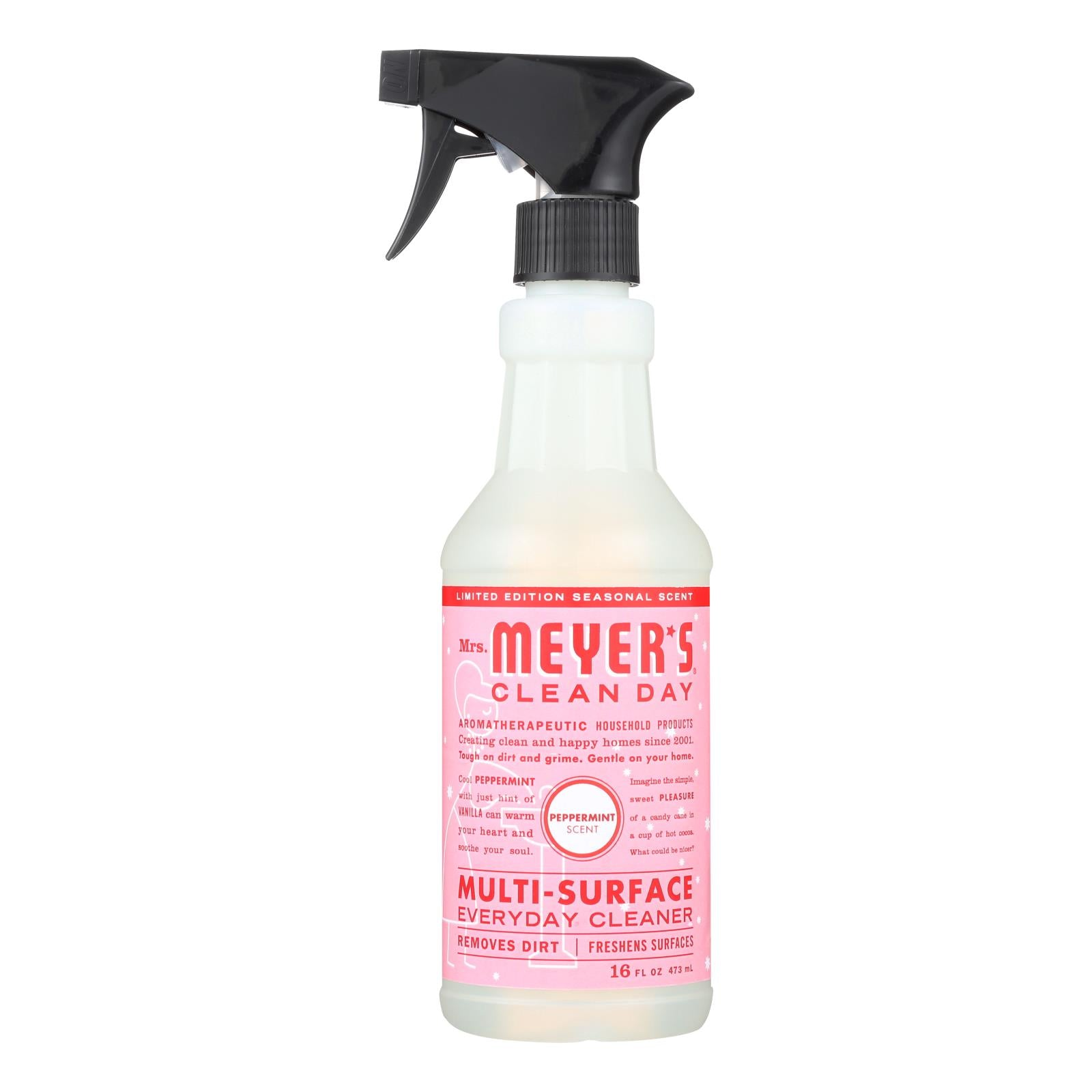 Mrs. Meyer's Clean Day - Multi-surface Everyday Cleaner - Peppermint - Case Of 6 - 16 Fl Oz. - J. Rose Global
