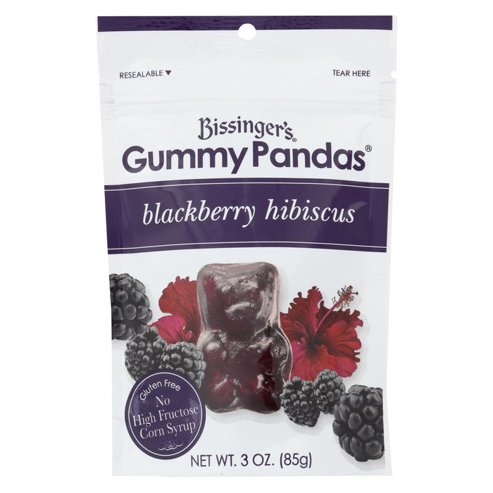 Bissinger's Gummy Pandas Blackberry Hibiscus - Case Of 12 - 3 Oz. - Handley Global Group, LLC
