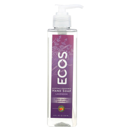 Earth Friendly Hand Soap - Ecos - Lavender - Case Of 6 - 8 Oz - J. Rose Global
