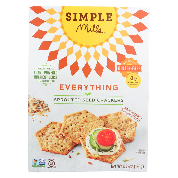 Simple Mills Sprouted Seed Crackers - Everything - Case Of 6 - 4.25 Oz - J. Rose Global
