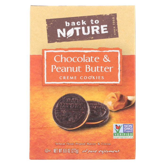 Back To Nature Cookies - Chocolate Peanut Butter Cream - Case Of 6 - 9.6 Oz. - Handley Global Group, LLC