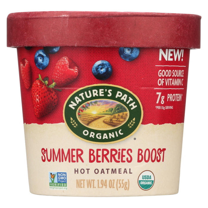 Nature's Path Organic Hot Oatmeal -summer Berries Boost - Case Of 12 - 1.94 Oz - J. Rose Global