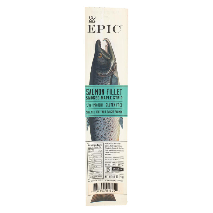 Epic - Salmon Strip - Smoked Maple Salmon Fillet - Case Of 20 - .8 Oz. - J. Rose Global