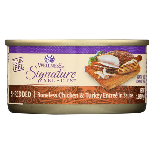 Wellness Pet Products Cat - Can - Turkey - Chicken - Signature Selects - Case Of 12 - 2.8 Oz - J. Rose Global
