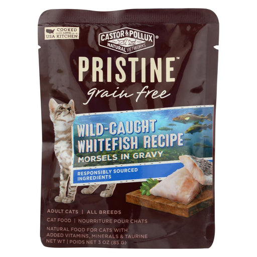Castor And Pollux Cat - Wild Whitefish Morsel - Grain Free - Case Of 24 - 3 Oz - J. Rose Global