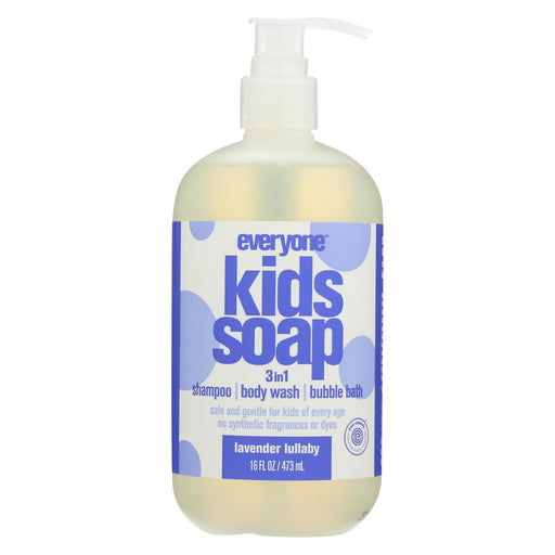 Everyone Kid Soap - Lavender Lullaby - Case Of 1 - 16 Fl Oz. - J. Rose Global