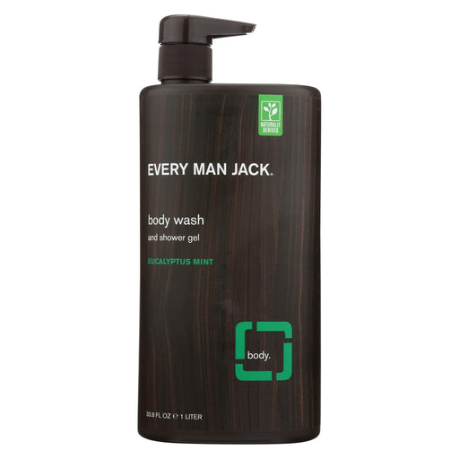 Every Man Jack Body Wash Eucalyptus Mint Body Wash - Case Of 33.8 - 33.8 Fl Oz. - J. Rose Global