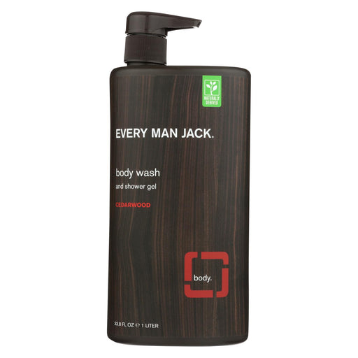 Every Man Jack Body Wash Cedarwood Body Wash - Case Of 33.8 - 33.8 Fl Oz. - J. Rose Global