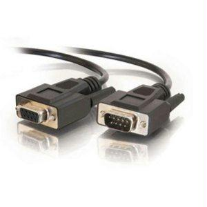 C2g 10ft Db9 M-f Serial Rs232 Extension Cable - Black - J. Rose Global
