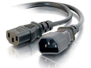 C2g 2ft 16 Awg 250 Volt Computer Power Extension Cord (iec320c14 To Iec320c13) (taa - J. Rose Global