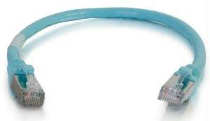 Legrand C2g 35ft Cat6a Snagless Shielded (stp) Network Patch Cable - Aqua - J. Rose Global