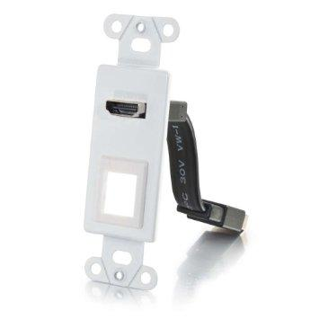 Legrand Hdmi Pass Through Decorative Wall Plate With One Keystone - White - J. Rose Global