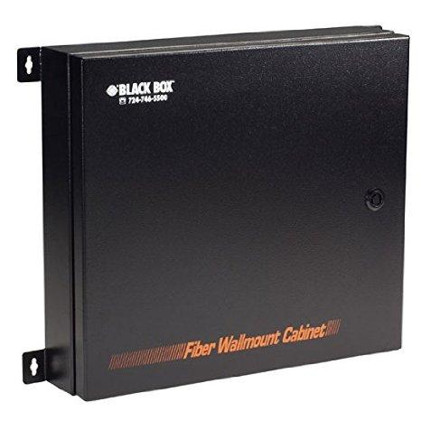 Black Box Network Services Rated Fiber Optic Wallmount Enclosure, 2 Adapter Panels - J. Rose Global