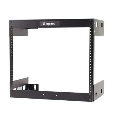 Legrand 8u Wall Mount Open Frame Rack - 12in Deep - J. Rose Global