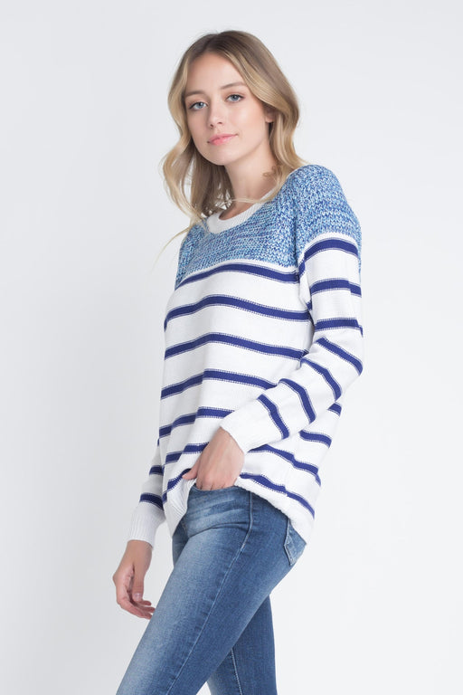 Women's Stripe Knit Sweater - J. Rose Global
