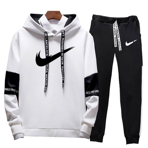 Brand Clothing Men's Casual Sweatshirts Pullover Cotton Men tracksuit Hoodies Two Piece +Pants Sport Shirts Autumn Winter Set - J. Rose Global