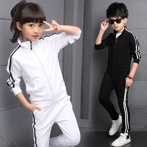 New Arrival Boys Clothing Sets Spring 2018 High Quality Children's Pure Color Sports Suit Teenage Girl School Uniforms 6-15Years - J. Rose Global