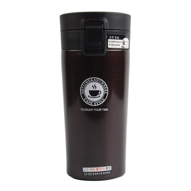 380ml Creative Double Layers Stainless Steel Thermo Cup Coffee Tea Travel Thermal Mug Bottle Vacuum Flasks Drinkware - Handley Global Group, LLC