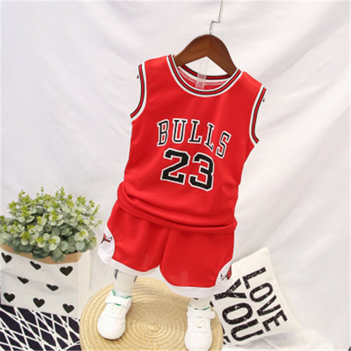 Summer Boy Clothes set Baby romper Basketball Clothing Boy Sports vest + short basketball uniform Kids Boys Girls Sports Clothes - J. Rose Global