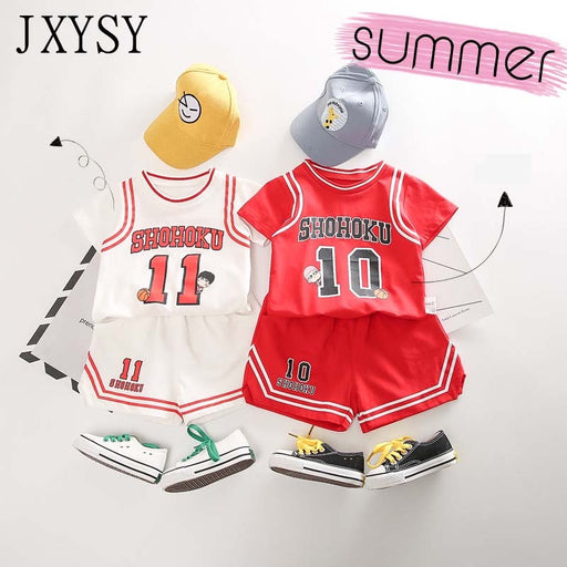 Toddler boy summer clothes Children Clothing Sets basketball uniform baby girl tracksuit 2pcs set Kids boys girls sports outfit - J. Rose Global