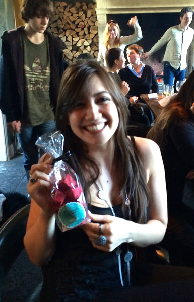 Daisy Lowe with Cloud Nine's gourmet marshmallows