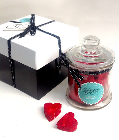 Double Raspberry Hearts Jar