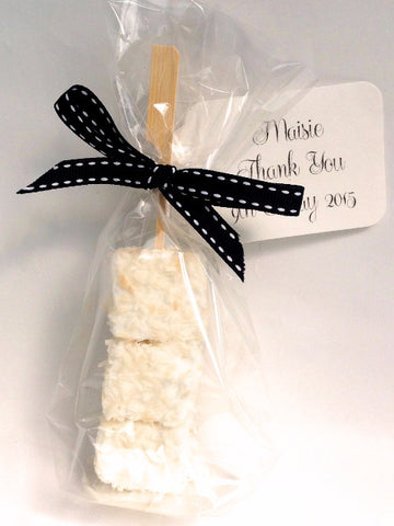 Coconut and Lime Marshmallow Favours