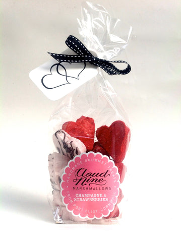 Valentines Champagne Strawberries marshmallow hearts packet