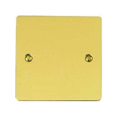 Elite Flat Plate Polished Brass Blanking Plate