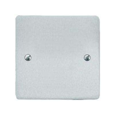 Elite Flat Plate Satin Chrome Blanking Plate