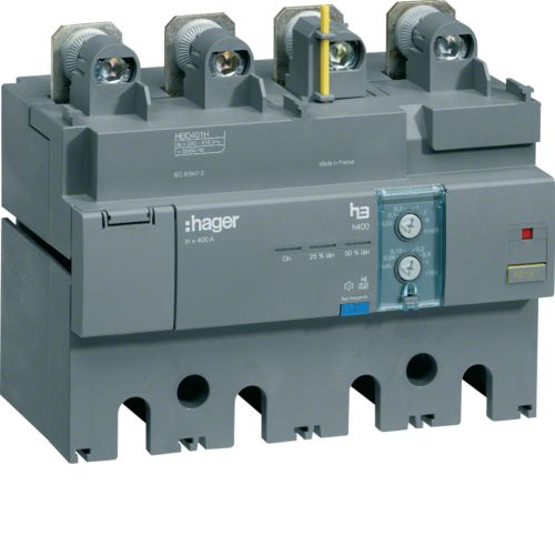 Hager RCD add on h400 4P 400A Idn adj HBD401H