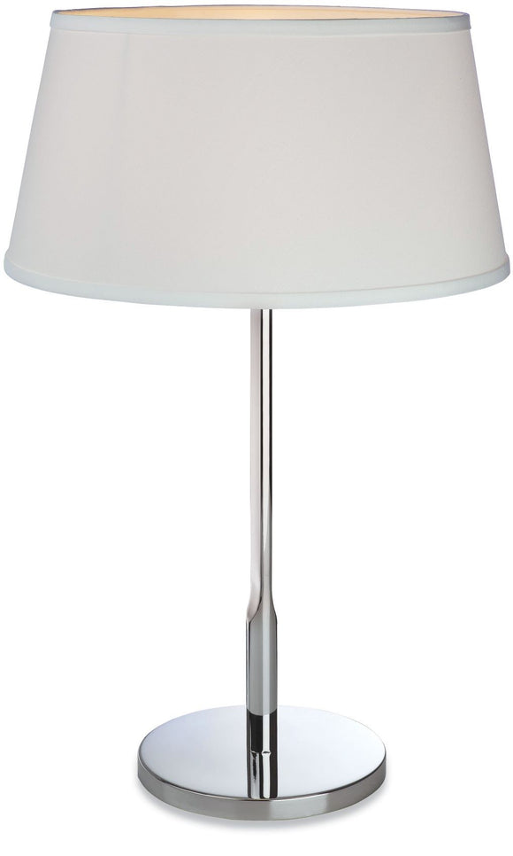 Firstlight Transition table lamp 60W E27 stainless steel with cream