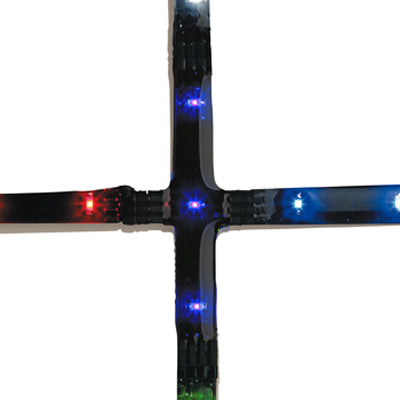 Cross 3xBlue LED 0.075W 70mm