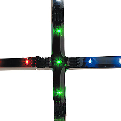 Cross 3xGreen LED 0.075W 70mm