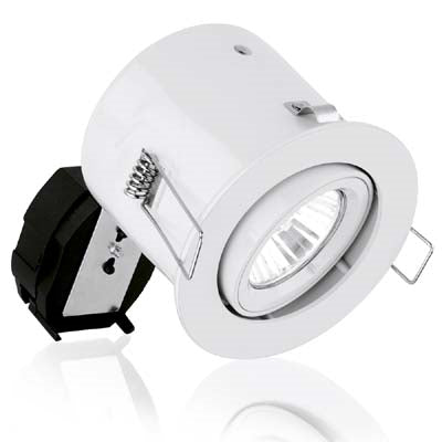 240V GU10 Aluminium Fixed Compact Fire Rated Downlight